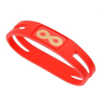 【レッド Lサイズ内径19.5cm】簡単・安全・安心・健康サポート&転倒予防‼ 腕につけるだけで、ポケットに入れるだけで無限大のバランスパワー パワー粒子パウダー500mg含有のウルトラハイパワー仕様。