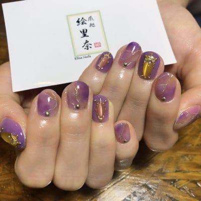 ジェルネイル定額¥12,000コース 爪処 絵里奈