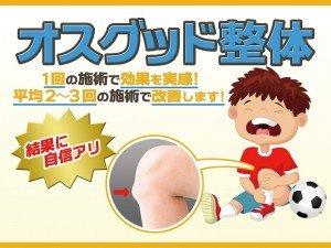 オスグット整体 (その辛い痛みを撃退!) 成長痛だと諦めていませんか? 神戸市垂水区