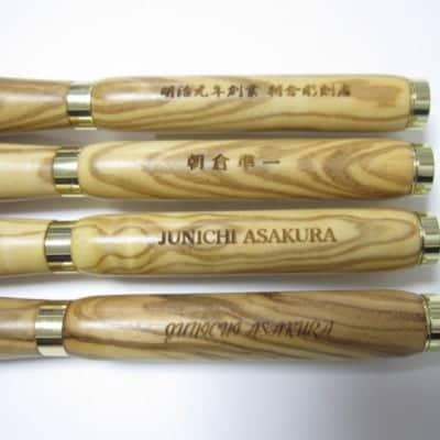 香川県伝統工芸士朝倉準一氏作 木軸ボールペン専用 レーザー名入れ加工