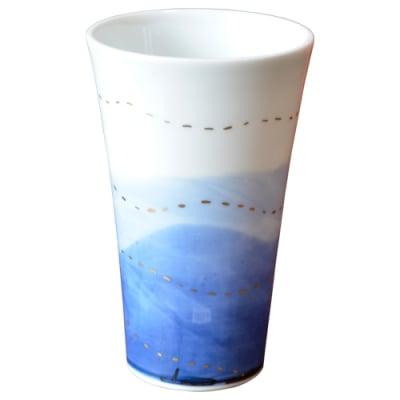 オリジナルデザイン カップ 1点もの ビアカップ大 陶器 19003-A