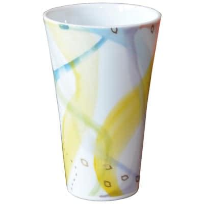 オリジナルデザイン カップ 1点もの ビアカップ大 陶器 19006-A