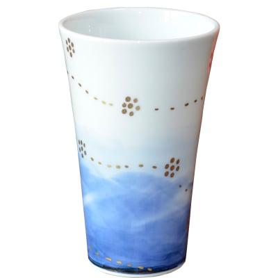 オリジナルデザイン カップ 1点もの ビアカップ大 陶器 19008-A