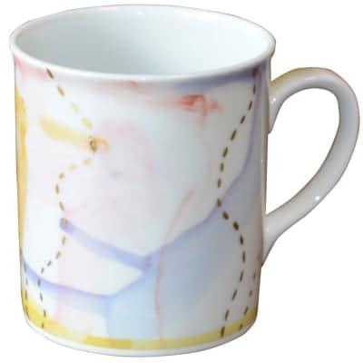 オリジナルデザイン マグカップ 1点もの コーヒーカップ 陶器 19047-F