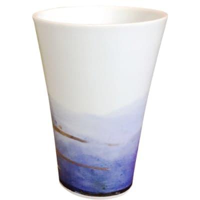 オリジナルデザイン カップ 1点もの ビアカップ 陶器 19011-B
