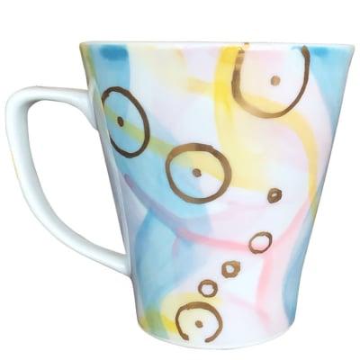 オリジナルデザイン マグカップ 1点もの コーヒーカップ 陶器 19063-E