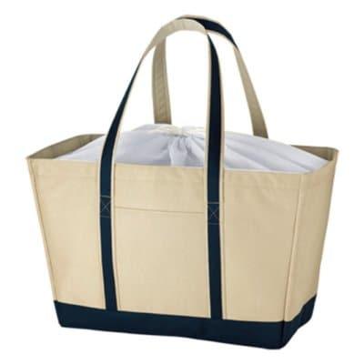 【暑さ対策!!】保冷機能付き/バイカラー保冷トートバッグ/LLサイズ
