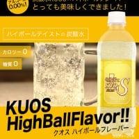 強炭酸水KUOS ハイボールフレーバー 糖質・カロリー0 85円/本  天領日田洋酒博物館 館長監修
