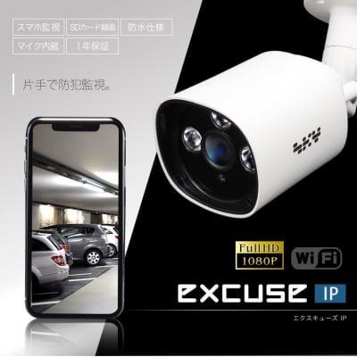 店舗の防犯に!ワイヤレス防犯IPカメラexcuse IP BUタイプ