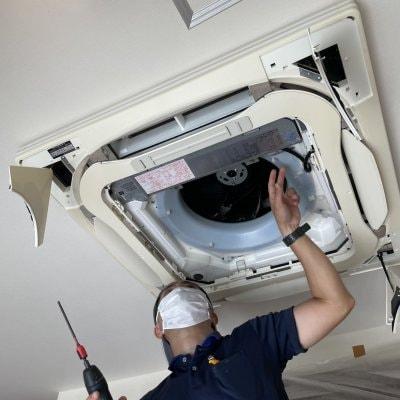 (天井埋込み型)エアコンクリーニング 分解洗浄 沖縄本島内限定