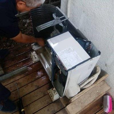 エアコン室外機クリーニング(分解洗浄 沖縄本島内限定)