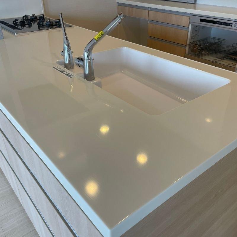 キッチンの超耐久ガラス被膜コーティング(新築住宅向け)汚れキズ防止のイメージその1