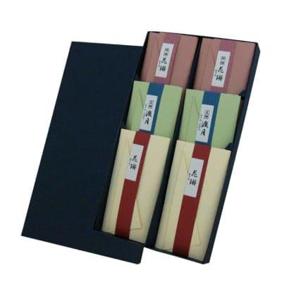 ご進物用|かりん物語 紙箱6種類入|プチギフト/ご先祖様や故人に真心伝える香りのお供えに【送料一律520円】