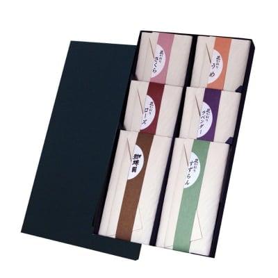 ご進物用|花かおり物語 紙箱6種類入|微煙タイプ/ご先祖様や故人に真心伝える香りのお供えに【送料一律520円】