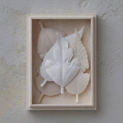 【和紙でできた葉っぱのお香 HAKO 】5枚箱入り/不燃マット付き/2019年度グッドデザイン賞受賞