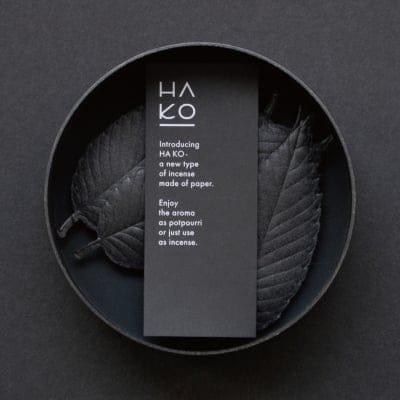 HAKO Special Black(黒)Box Relax6枚入り/和紙でできた葉っぱをモチーフにした室内香