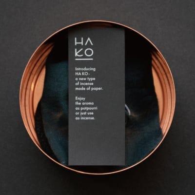 HAKO Special Black(黒)Can Sleep7枚入り/和紙でできた葉っぱをモチーフにした室内香