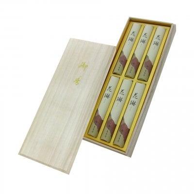 ご進物用|花琳 木箱 短寸6入|約13.5cm/ご先祖様や故人に真心伝える香りのお供えに【送料一律520円】