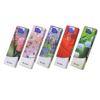 【セット販売】スリム花かおり焚きくらべセット|やさしい花の香りで幅広く愛されているシリーズ全5種類のセットです|送料込み(レターパックでお届け)