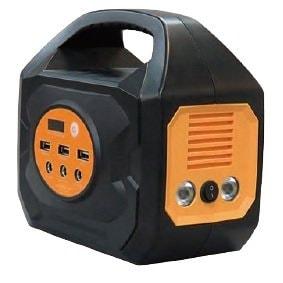 台風、地震、停電対策に最適なポータブルリチウムイオン蓄電池 LED照明内蔵、太陽光パネルで充電も可能なパワーバリューサーバー PVS-144