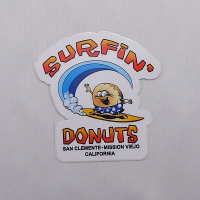 SURFIN' DONUTS] STICKER