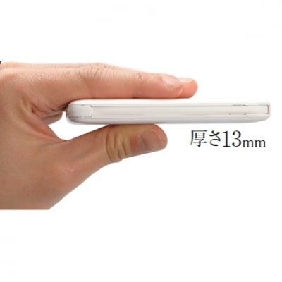 アイフォン用ライトニングとアンドロイド用MicroUSBに加え新しくType-Cケーブルを内蔵し、厚さわずか13mm、iPhoneを2回充電が可能な大容量リチウムイオンモバイルバッテリーCIO-5000