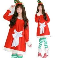 クリスマス ドレス レディース クリスマスパーティー衣装 サンタコス パーカーフード付き 可愛いドレス コスチューム リボン ゆったり サンタクロース クリスマス ドレス レディース クリスマスパーティー衣装 サンタコス パーカー フード付き 可愛いドレス コスチューム リボン ゆったり サンタクロース