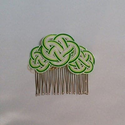 水引 髪飾り 梅結びコーム