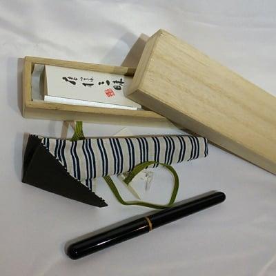 京友禅の老舗がつくる美しい漆の携帯用筆ペン