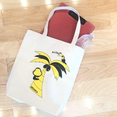 送料無料!!MERIRA+ キャンバストートバッグ【ナチュラル】