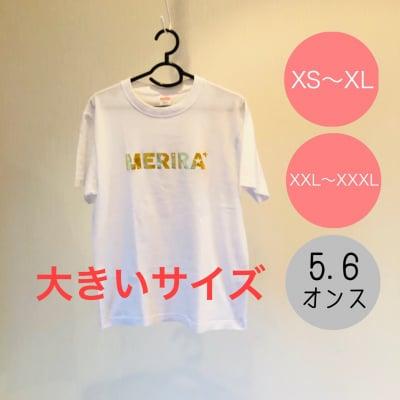 大きいサイズ 送料無料!!MERIRA+ 無地ロゴTシャツ【ホワイト】(XXL〜XXXL)2枚で10%引き