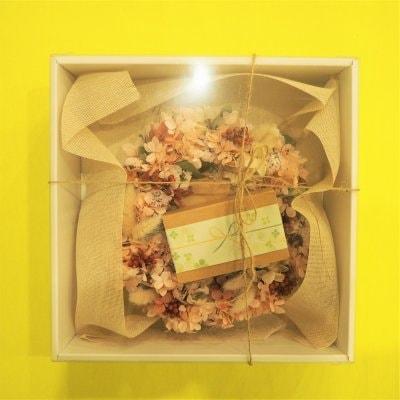 【ギフト・受注生産】ドライフラワーリース&Komera(こめら) 3種12枚×2セット入