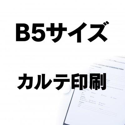 B5サイズ カルテ印刷
