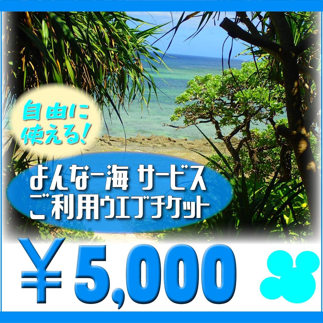 【5000円】よんなー海サービスご利用ウェブチケットのイメージその2