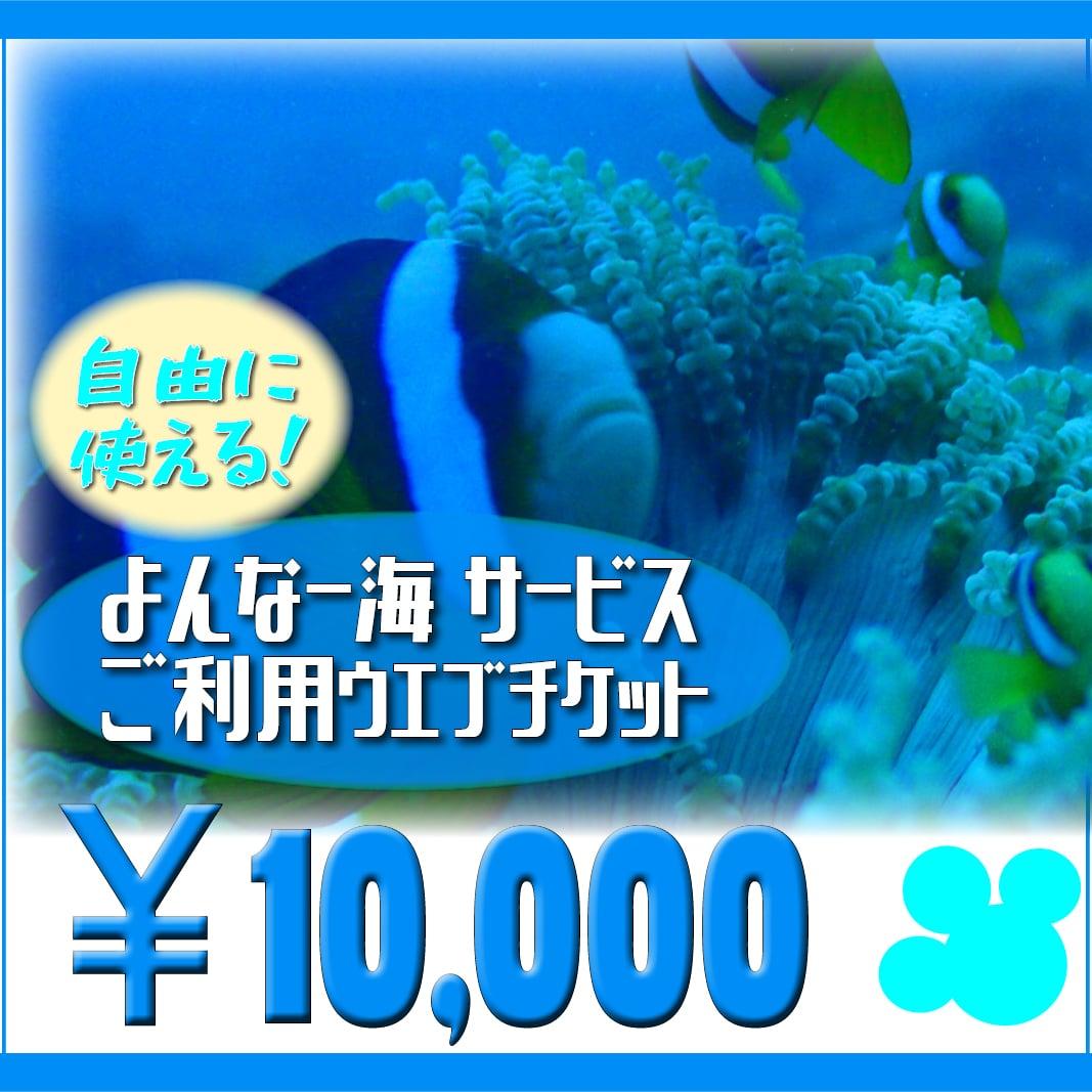 【10000円】よんなー海サービスご利用ウェブチケットのイメージその2