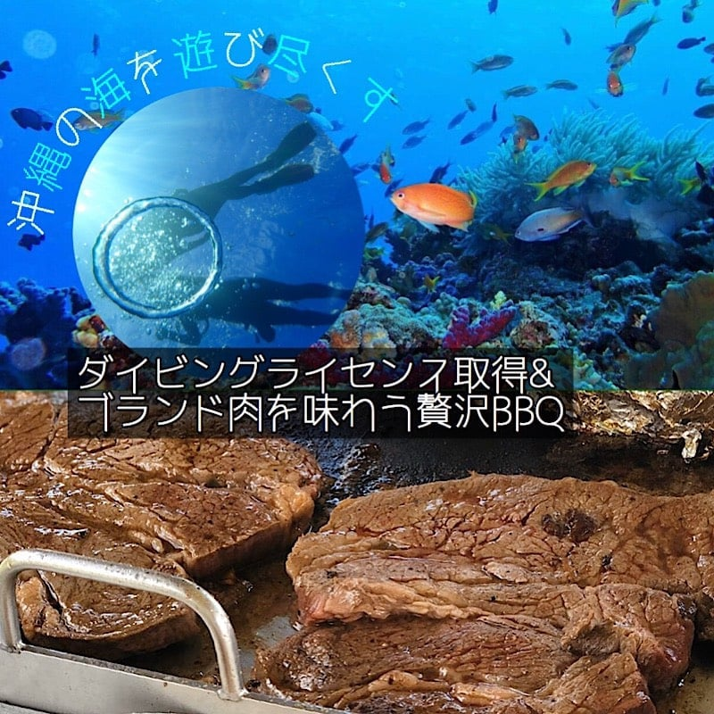 【BBQシェフ付き】ダイビングライセンス取得しながら沖縄のビーチでバーベキューしませんか?のイメージその1