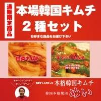 めい特製・本場韓国キムチ2種セット【白菜×キューリ】