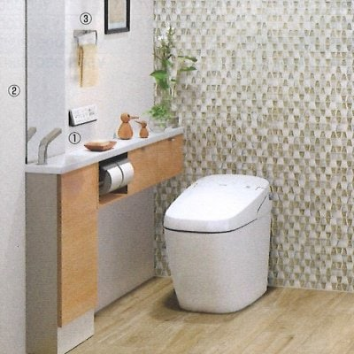 LIXIL 手洗付トイレのリフォーム 鮫島工業施工費込み サティスGタイプ