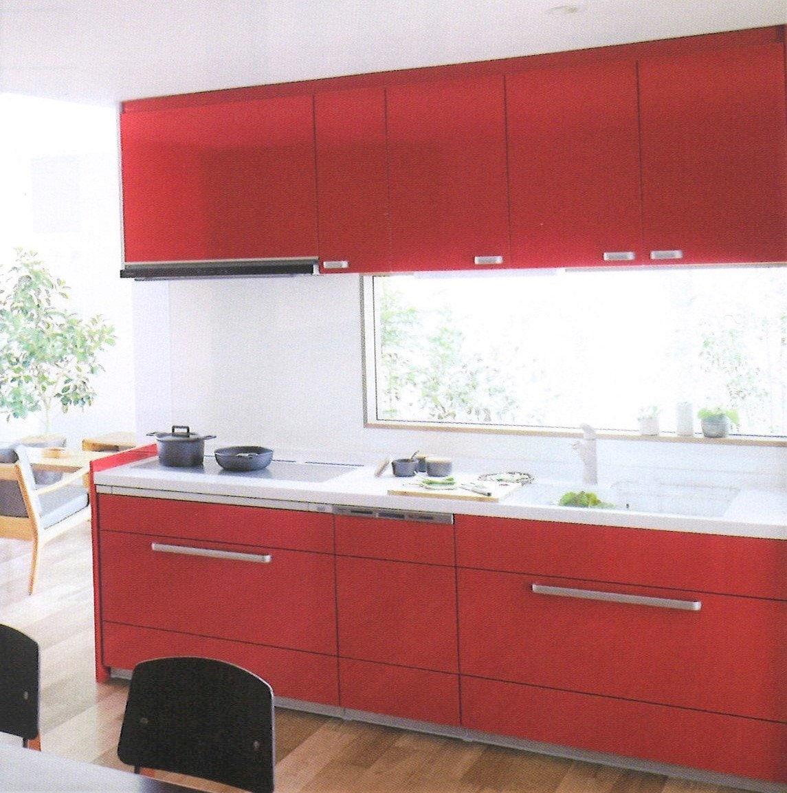 Panasonic システムキッチン 吊戸棚で使い勝手をアップした壁付けキッチンのリフォーム商品プラン 鮫島工業施工のイメージその1