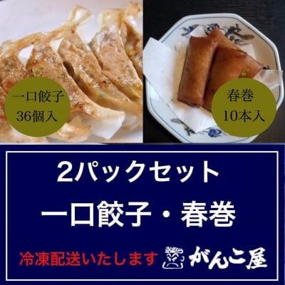 がんこ屋特製|一口餃子・春巻セット(冷凍)