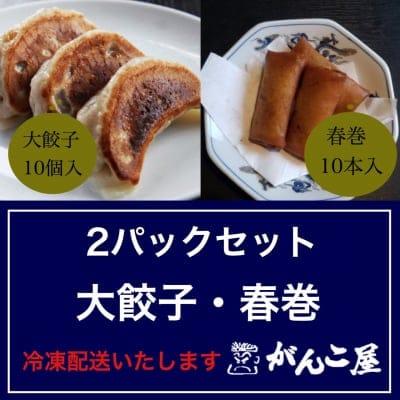 がんこ屋特製|ジャンボ(大)餃子・春巻セット(冷凍)