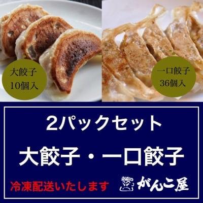 がんこ屋特製|ジャンボ(大)餃子・一口餃子セット(冷凍)