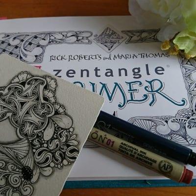 @日本橋 3月25日(水) 心をととのえるゼンタングル®講座・基礎 【アートでマインドフルネス体験】