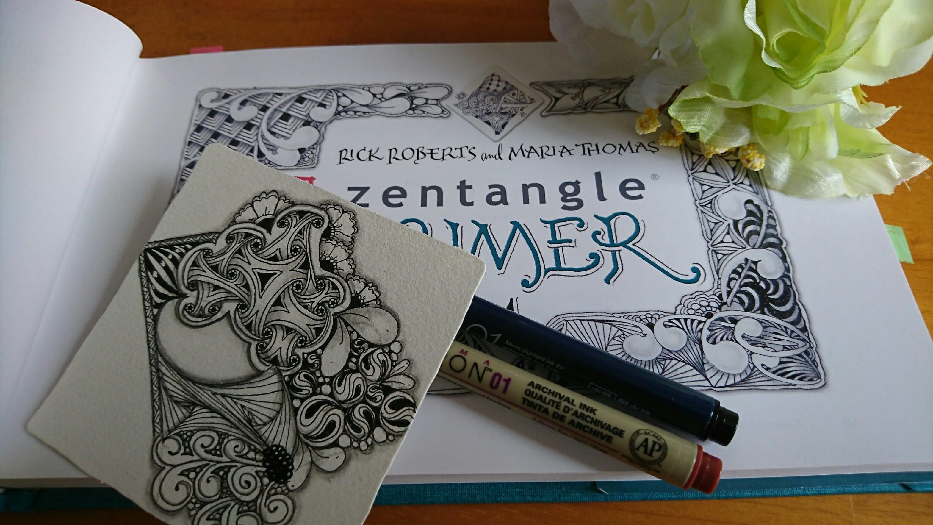 心をととのえるゼンタングル®講座・基礎 【アートでマインドフルネス体験】のイメージその1