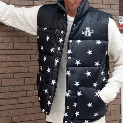 【Marbles/マーブルズ】STARS PUFFY VEST / スタープリント ベスト MJK-A1804