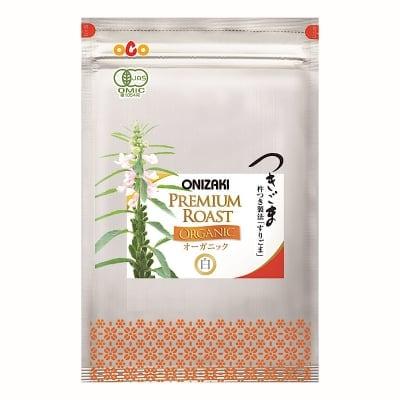 オニザキのつきごま白オーガニック425g( 85g 5袋/箱)有機栽培のごまを使用、国産、天然、無添加、おにぎり、ふりかけ、パスタや和え物に!