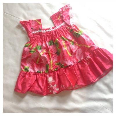 【女の子用カラードレス】ハイビスカス ピンク