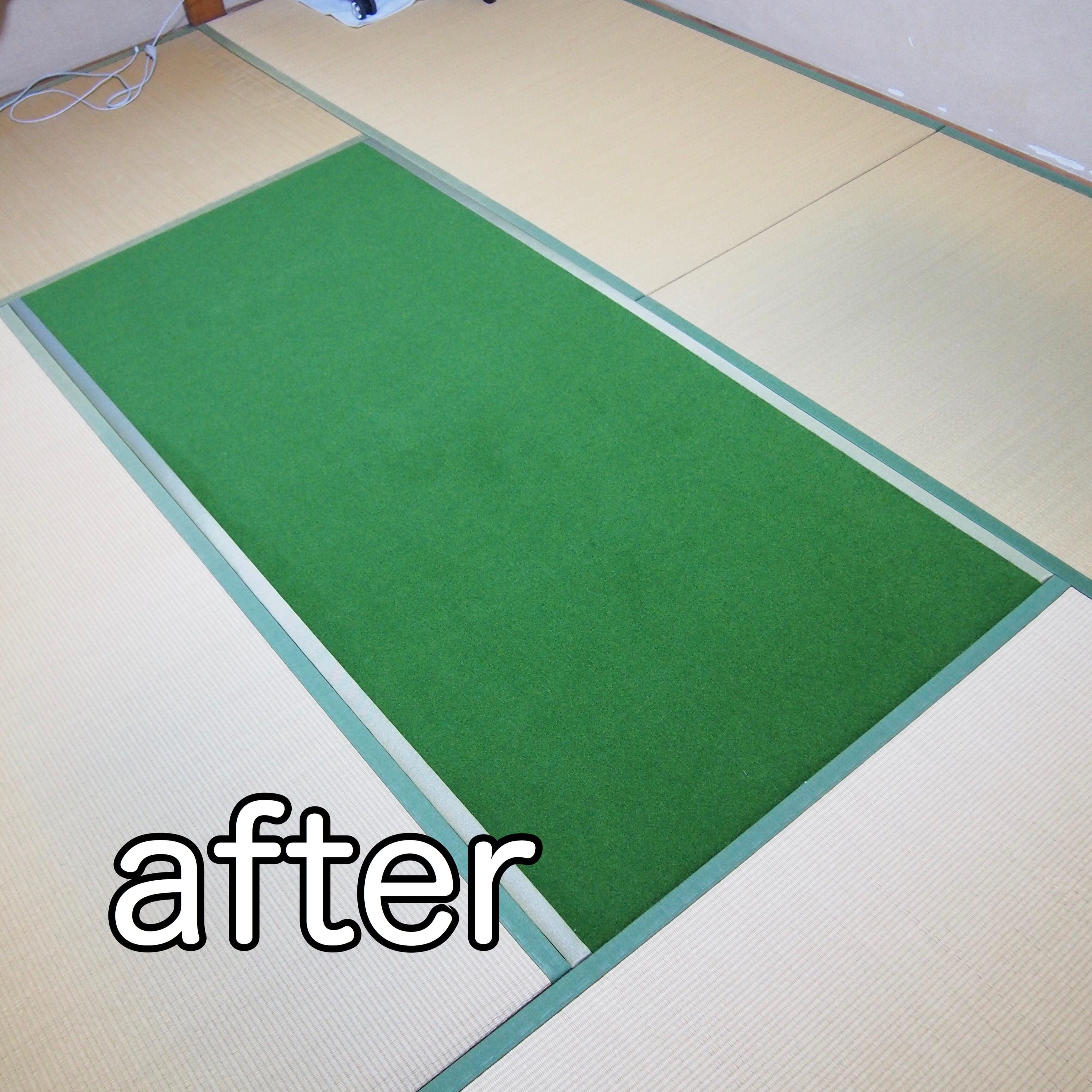 ゴルフパター練習用/畳パターマット/畳部屋がゴルフの練習所に!!のイメージその3