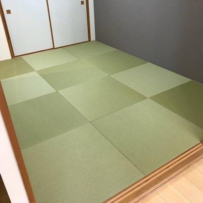 セキスイ美草目積グリーン使用ヘリなし半畳 6畳部屋 新畳施工費