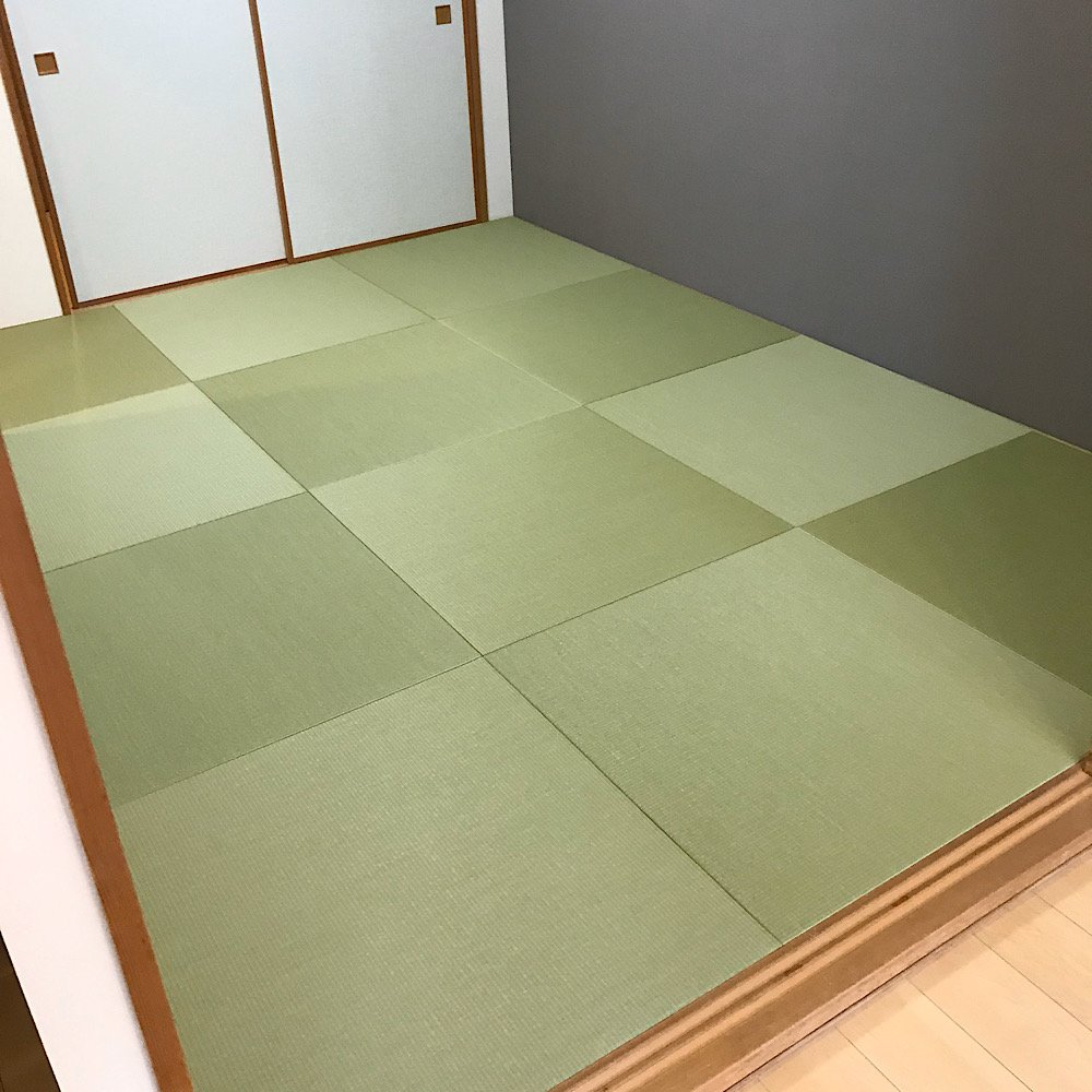 ダイケン清流カラー和紙表使用ヘリなし半畳 6畳部屋 新畳施工費のイメージその1